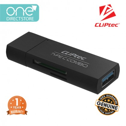 CLiPtec CHINUS USB Type-C Combo Card Reader RZR602