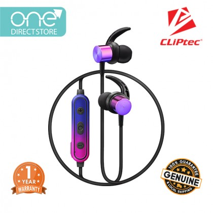 CLiPtec AIR-SPAKX Wireless Bluetooth 5.0 Magnetic Stereo Earphone BBE100