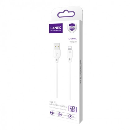 Lanex 2.1A Fast Charge USB to Micro USB Cable 1M - LTC N05M