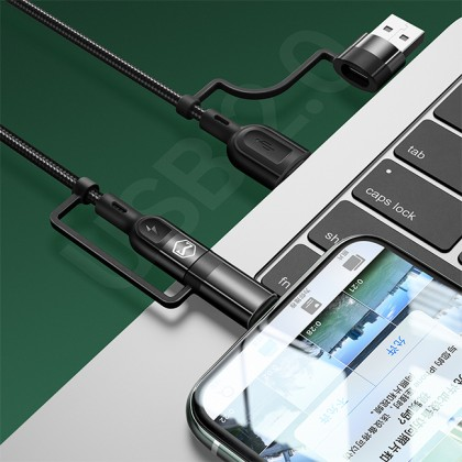 Mcdodo PD 3A USB-A + Type-C to Type-C + Lightning 4 in 1 Cable 1.2M CA807