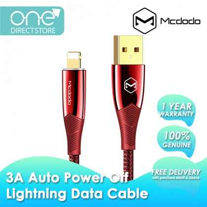 Mcdodo Shark Series 3A Auto Power Off & Recharge Lightning Data Cable 1.2M CA806