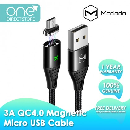 Mcdodo Storm Series QC4.0 3A Magnetic Micro USB Cable 1.2M CA652