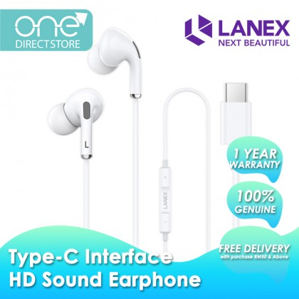 Lanex HD Sound In-Ear Wired Earphone with Type-C Connector - LEP L11