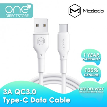 Mcdodo White Series 3A QC4.0 Type-C Data Cable 1.2M CA728
