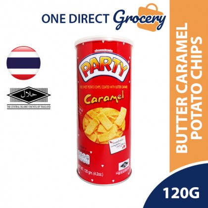 PARTY Halal Fried Sweet Potato Chips Coated With Butter Caramel 120g