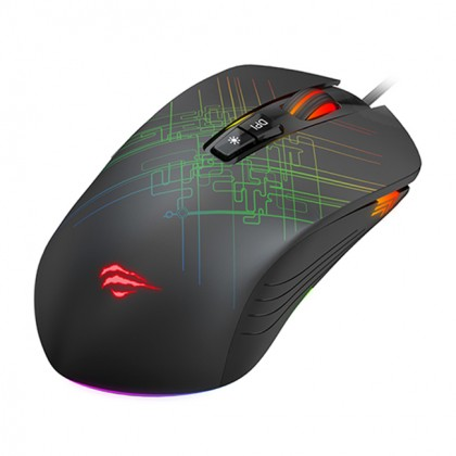 GAMENOTE MS1019 4800DPI RGB Backlit Programmable Gaming Mouse