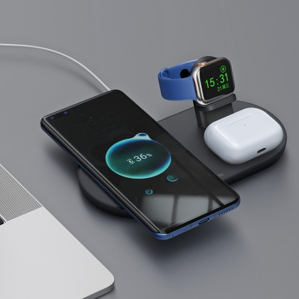 Mcdodo 15W MagSafe Magnetic 3 in 1 Wireless Charger (For Mobile Phone / TWS / Apple Watch) CH706