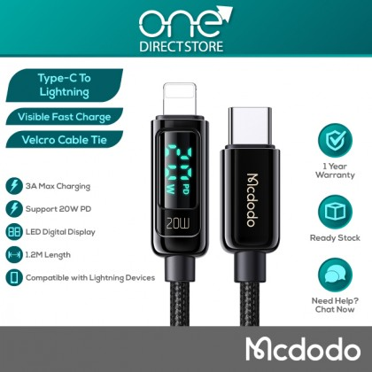 Mcdodo Digital Pro 20W PD Type-C to Lightning Data Cable 1.2M CA881