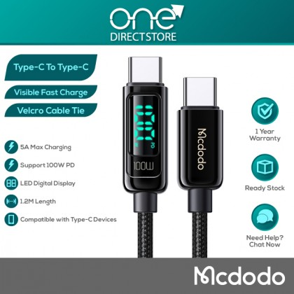 Mcdodo Digital Pro 100W PD Type-C to Type-C Data Cable 1.2M CA882