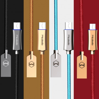 Mcdodo 3A Auto Disconnect Micro USB Cable 1M (Support QC3.0) - CA289