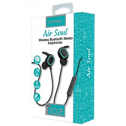 CLiPtec AIR-SOUL Wireless Bluetooth Stereo Earphones BBE102